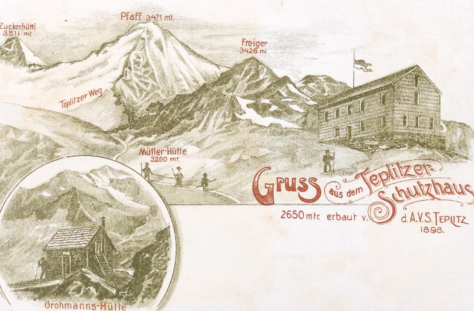 Vedretta Pendente (Rifugio) già Teplitzerhütte